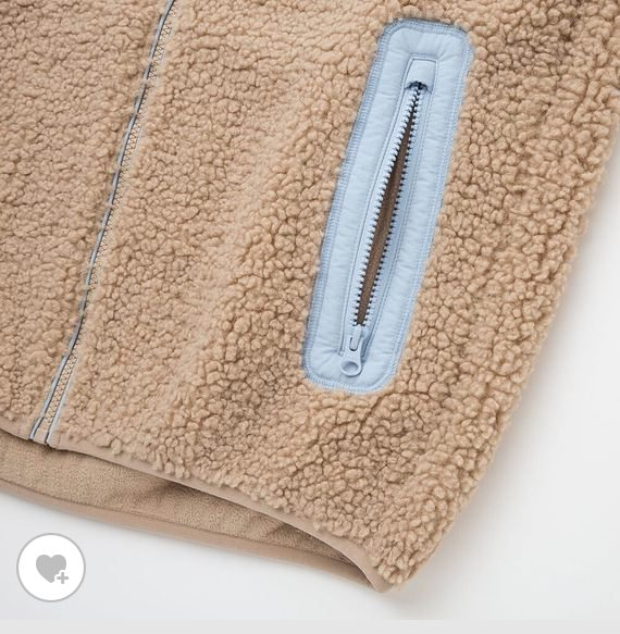 JWアンダーソン防風ボアフリースジャケットの素材