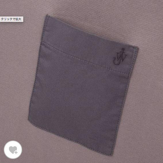 JWアンダーソンスウェットシャツの素材