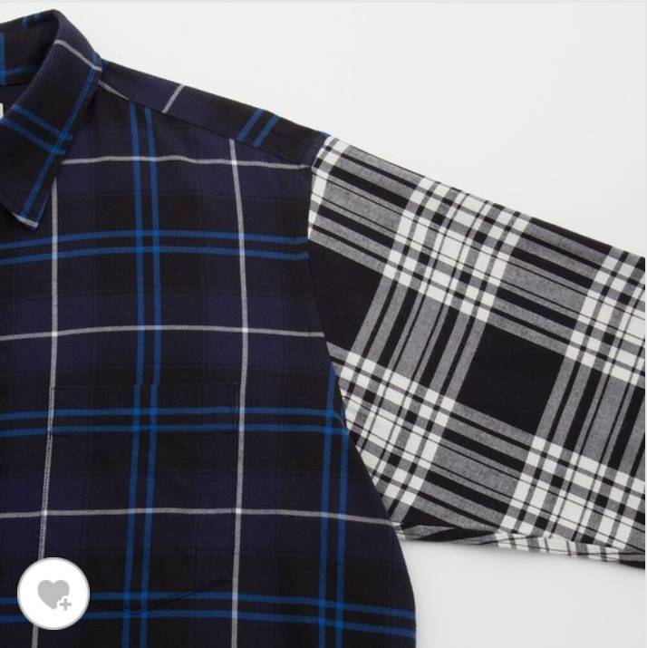 JWアンダーソンのフランネルチェックプルオーバーシャツの素材