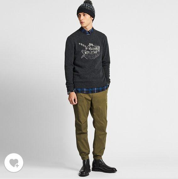 JWアンダーソンジャガードクルーネックセーターのHPモデル