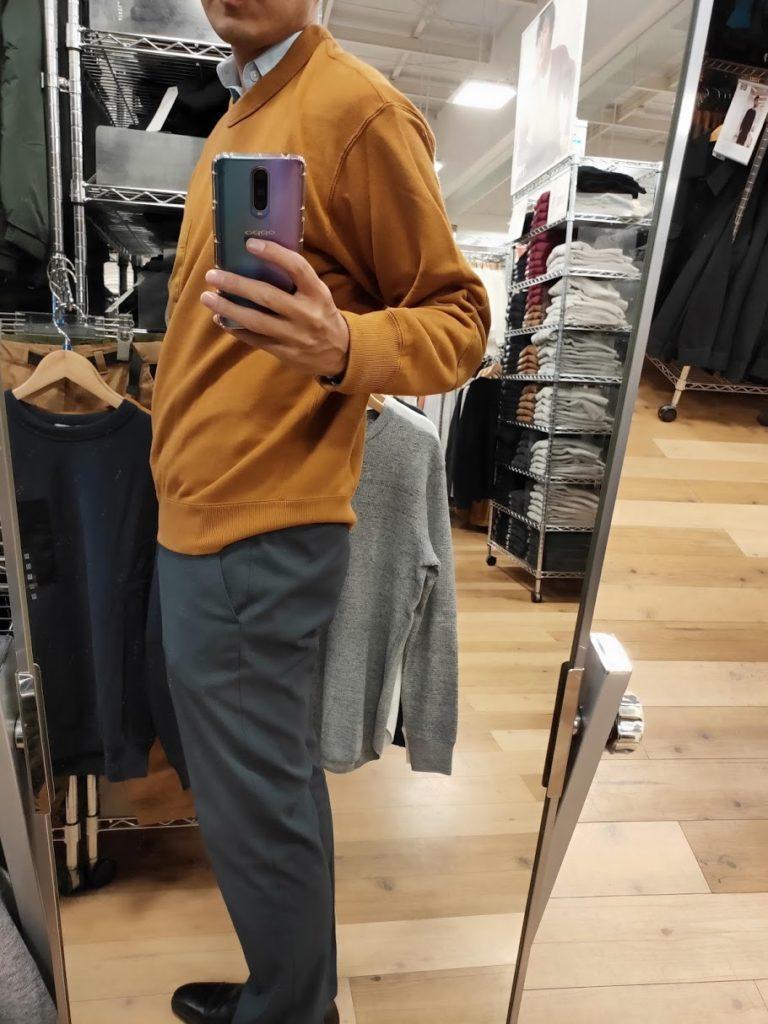 JWアンダーソンスウェットシャツのブラウンサイズM横