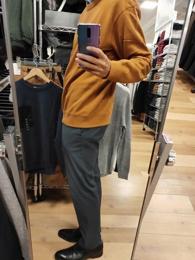 JWアンダーソンスウェットシャツのブラウンサイズL横