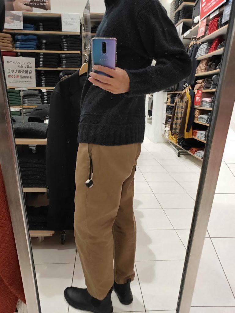 JWアンダーソンローゲージクルーネックセーターのネイビーM後ろ