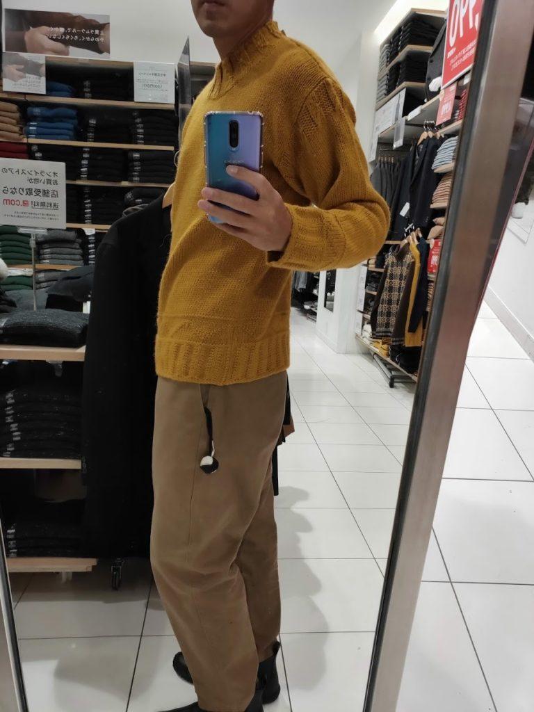 JWアンダーソンローゲージクルーネックセーターのイエローM横