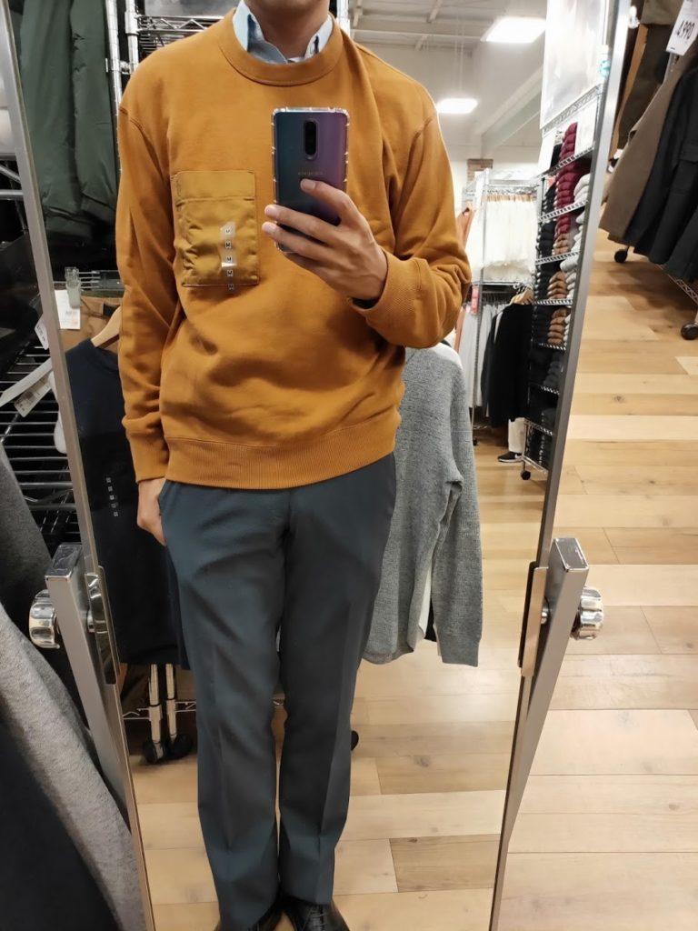 JWアンダーソンスウェットシャツのブラウンサイズM前