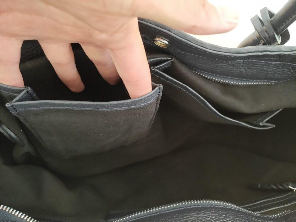 ユニバーサルランゲージイントレチャートバッグの外観内側3