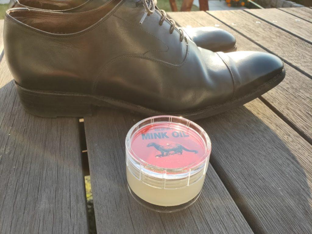 ミンクオイルと靴
