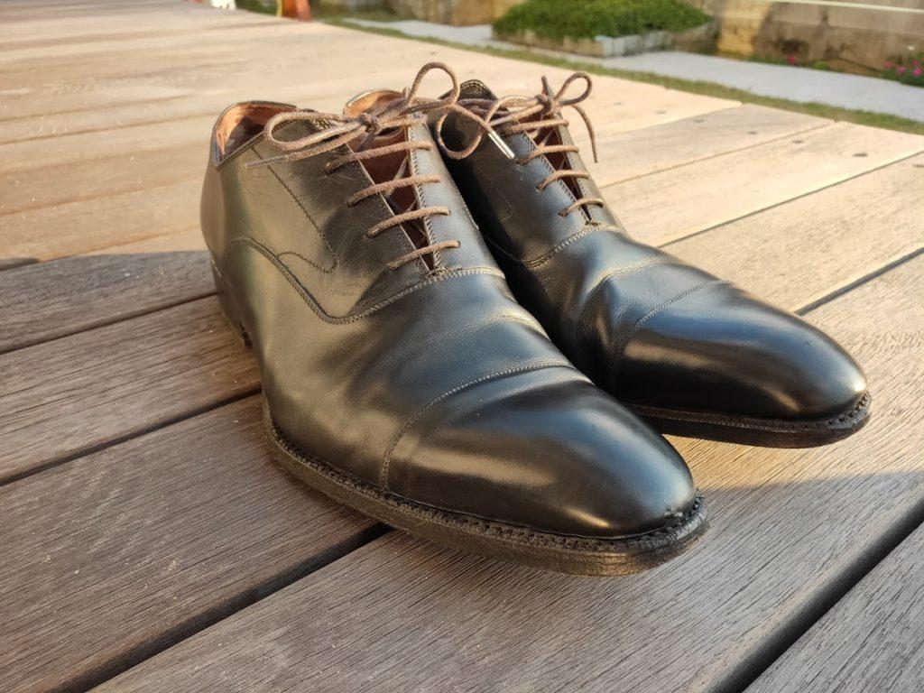 ミンクオイルを塗った後の靴3