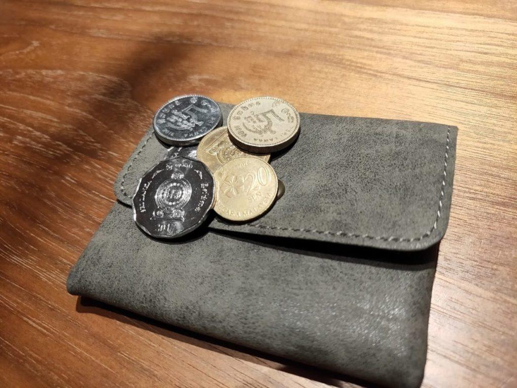 ダイソー財布のコイン