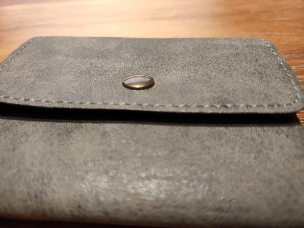 ダイソー財布の前ボタン