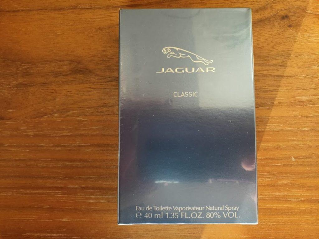 ジャガークラシック香水の箱