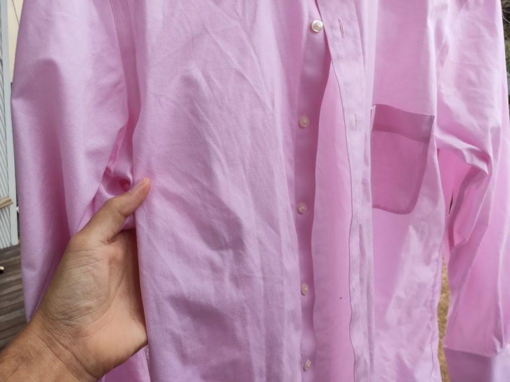 ユニクロファインクロススーパーノンアイロンシャツの洗濯後3