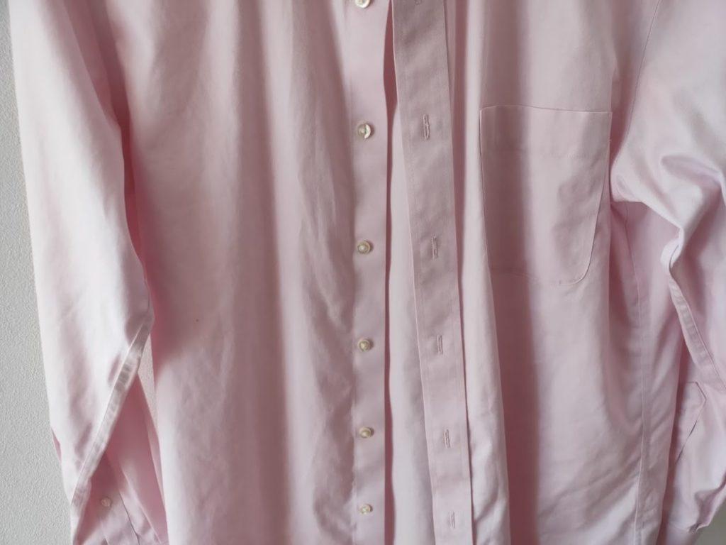 ユニクロファインクロススーパーノンアイロンシャツの乾燥後3