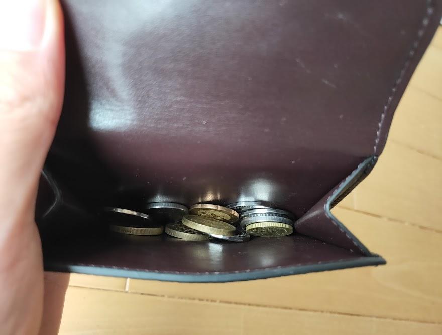 コーチの折りたたみ財布の小銭部分