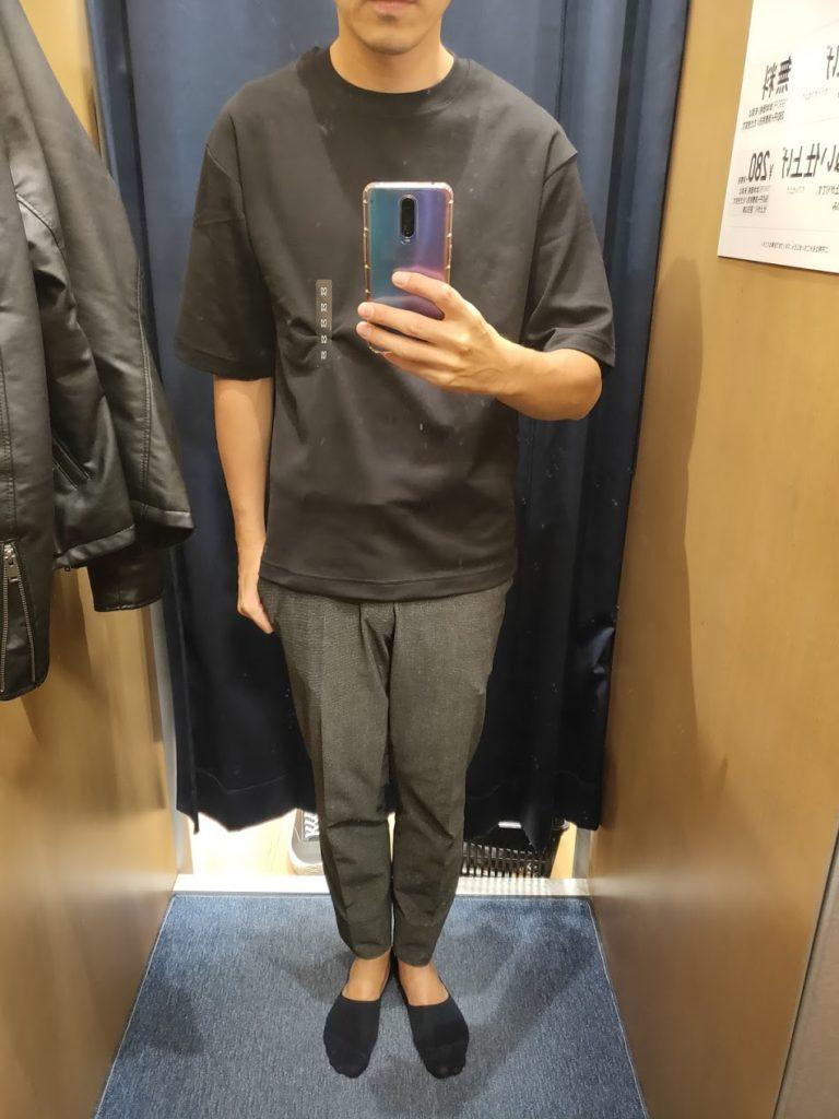 エアリズムオーバーサイズTシャツ黒M前