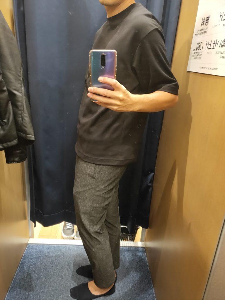 エアリズムオーバーサイズTシャツ黒M横
