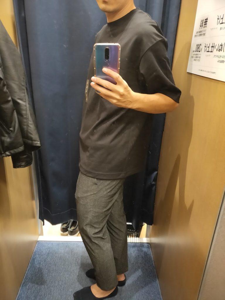 エアリズムオーバーサイズTシャツ黒L横