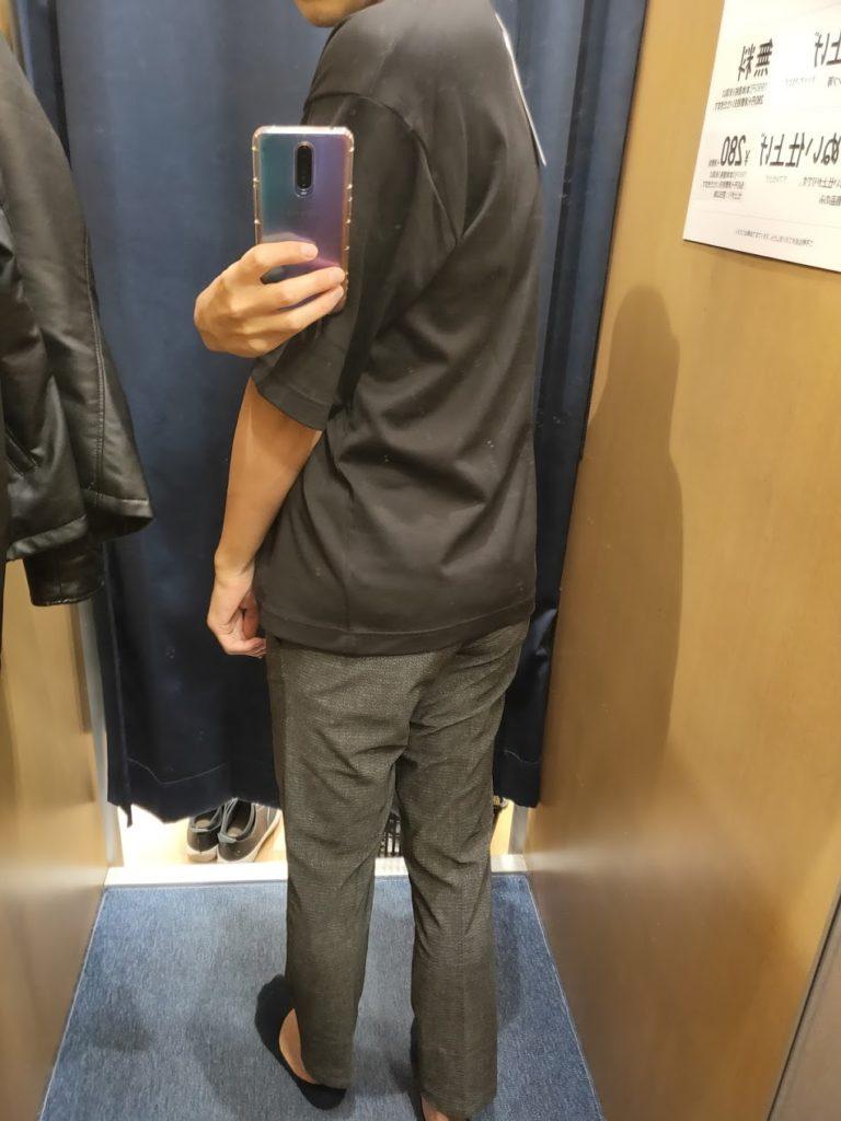 エアリズムオーバーサイズTシャツ黒L後ろ
