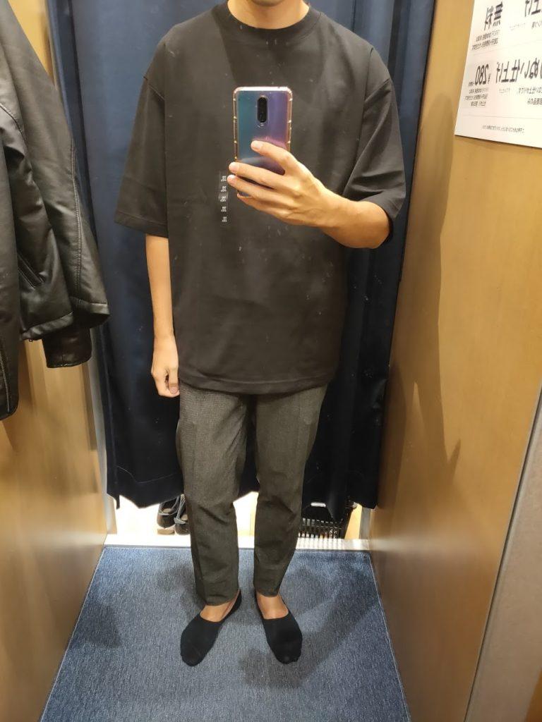 エアリズムオーバーサイズTシャツ黒XL前