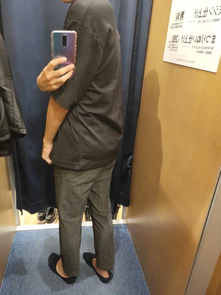 エアリズムオーバーサイズTシャツ黒XL後ろ