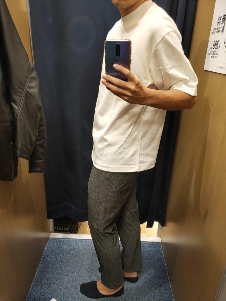 エアリズムオーバーサイズTシャツ白L横