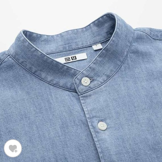 デニムスタンドカラーシャツ素材1
