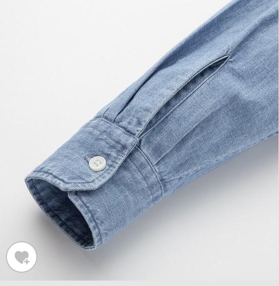 デニムスタンドカラーシャツ素材2