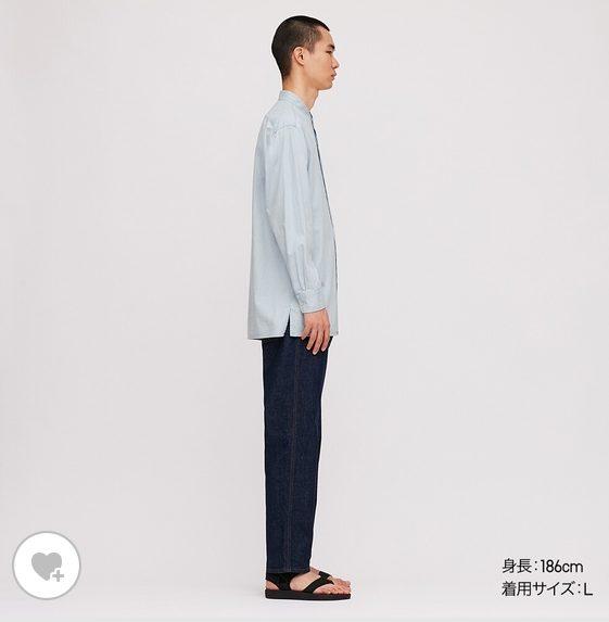 デニムスタンドカラーシャツHPモデル