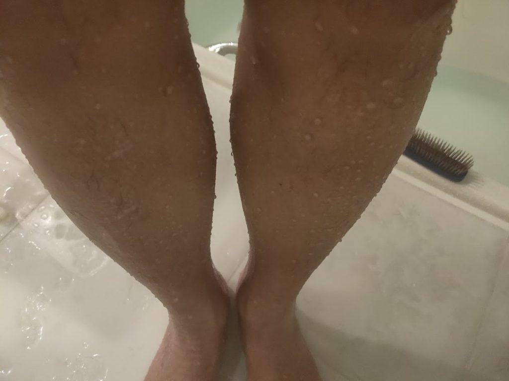 zozomatと足を剃った後