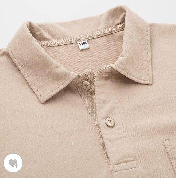 オーバーサイズジャージーポロシャツの素材1