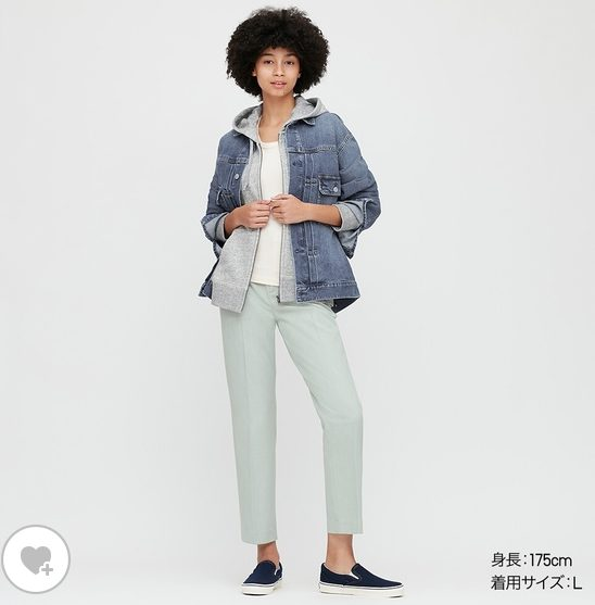 デニムジャケットのモデル画像