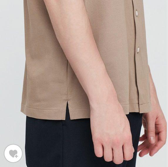 エアリズムジャージーポロシャツオープンの素材1