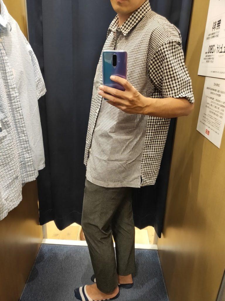 JWアンダーソンシアサッカーシャツ68ブルーL横