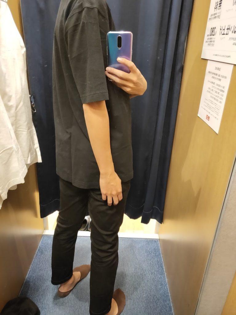 オーバーサイズジャージーポロシャツのブラックL後