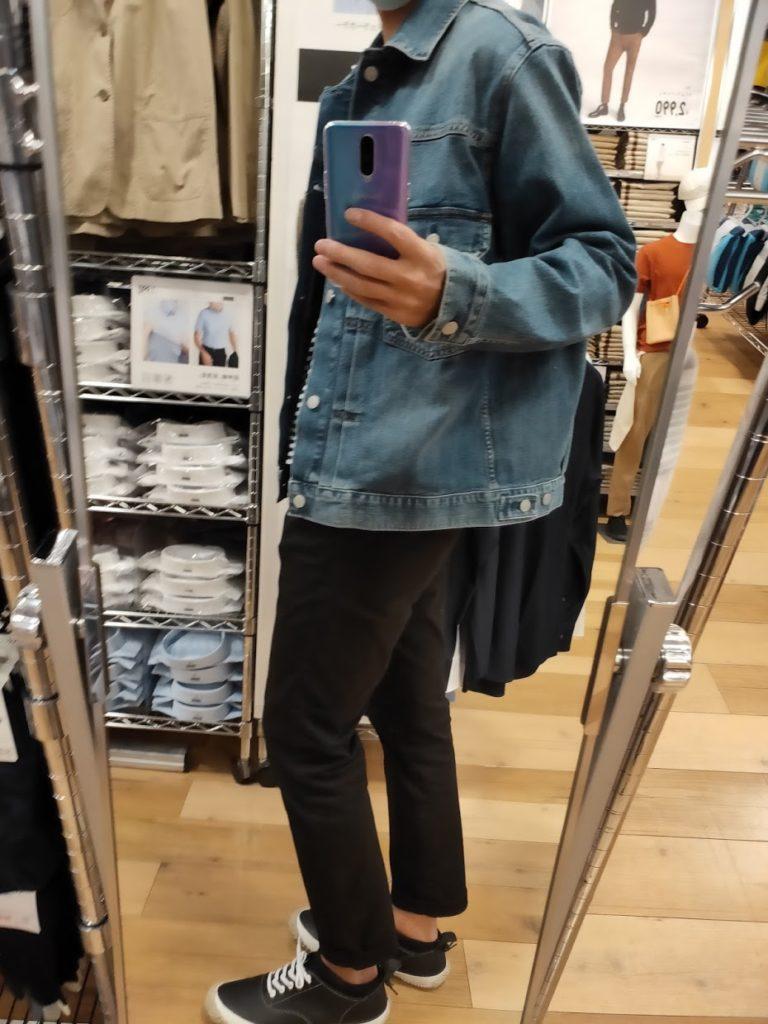 デニムジャケット63ブルーのXL横