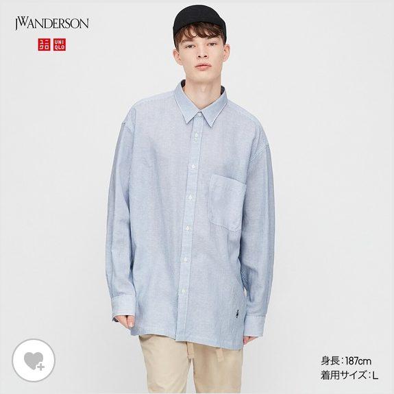 リネンブレンドオーバーサイズシャツHPモデル