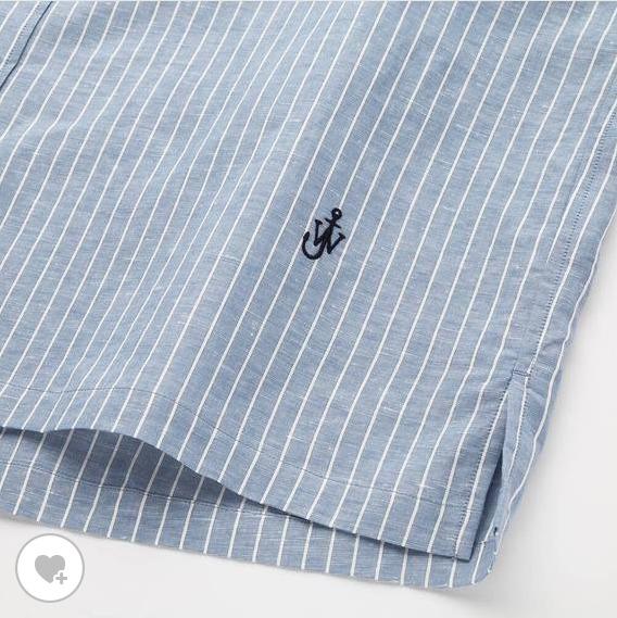 リネンブレンドオーバーサイズシャツ素材1
