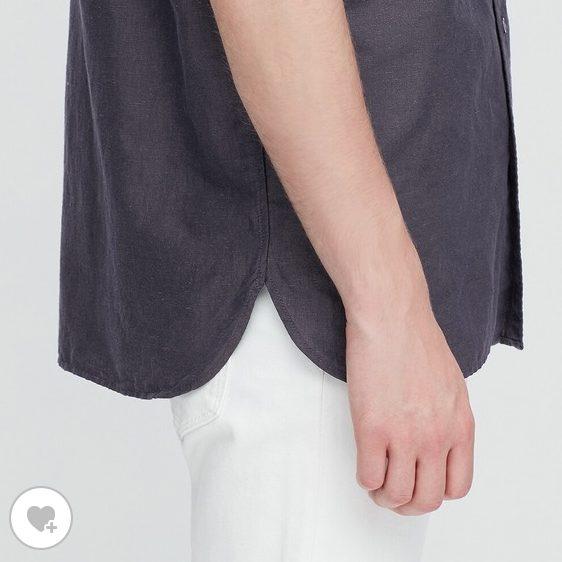 リネンコットンスタンドカラーシャツ素材2