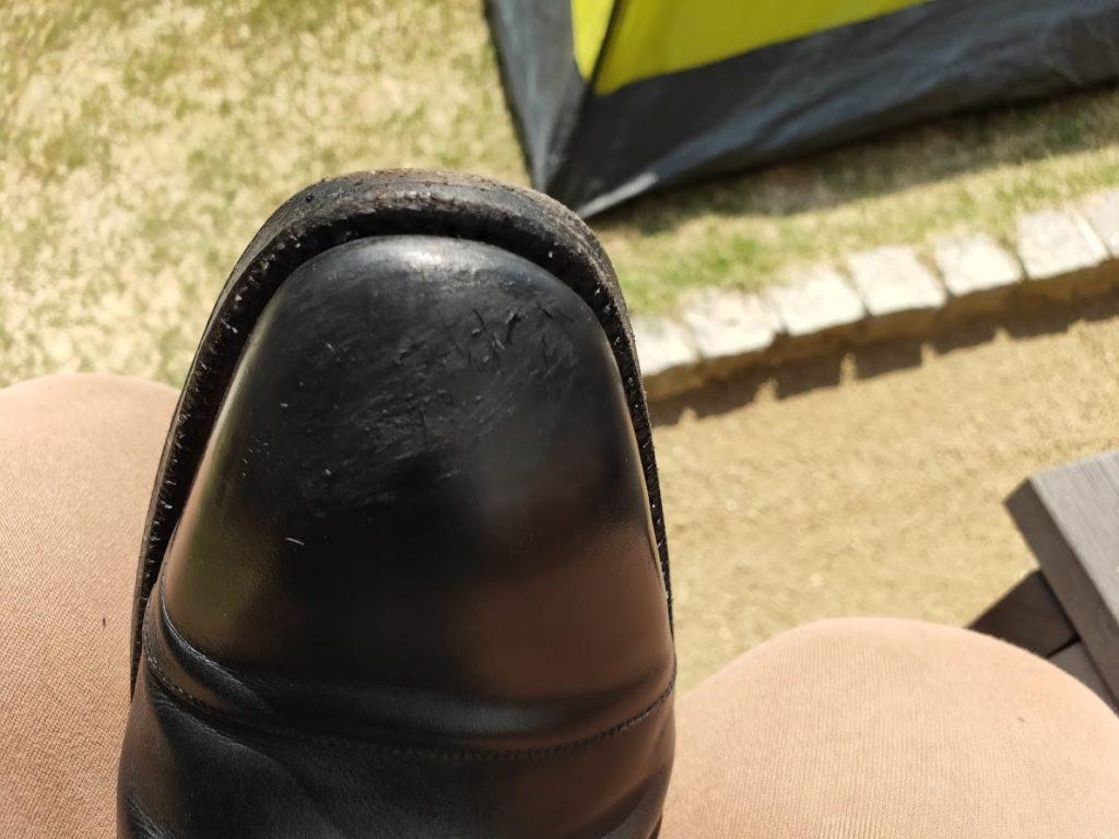 革靴とアドカラー失敗1