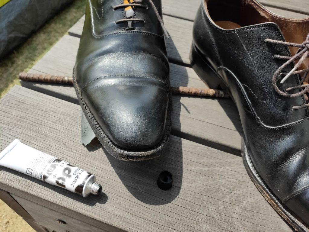 革靴とアドカラー失敗2