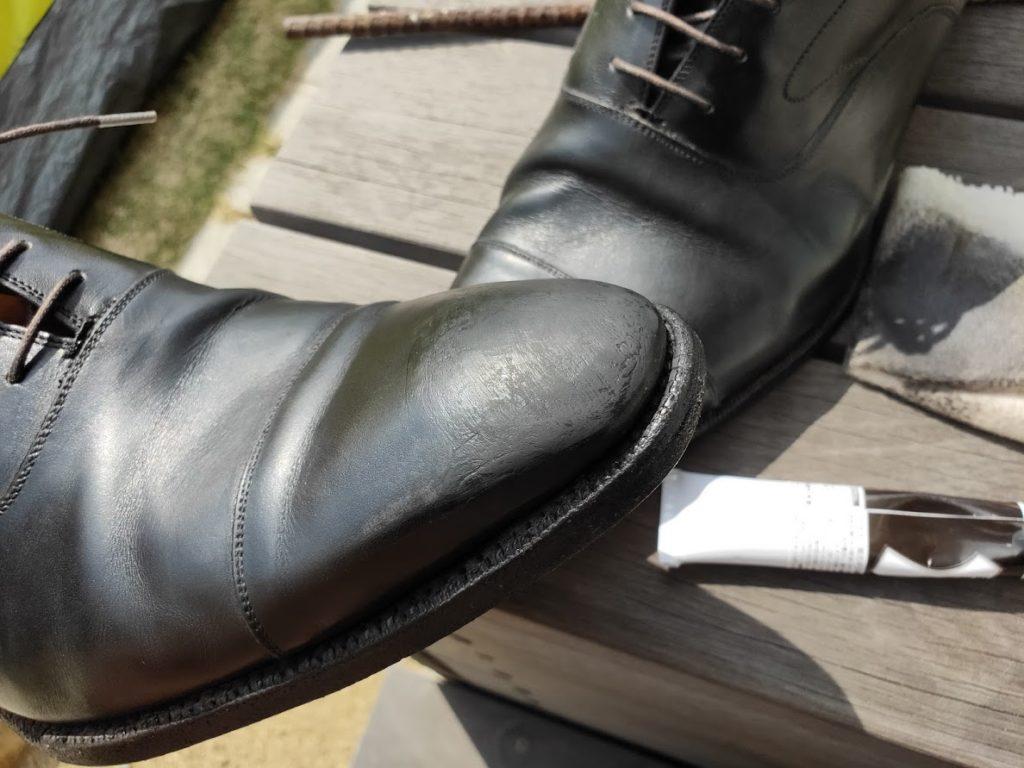 革靴とアドカラーリベンジ1