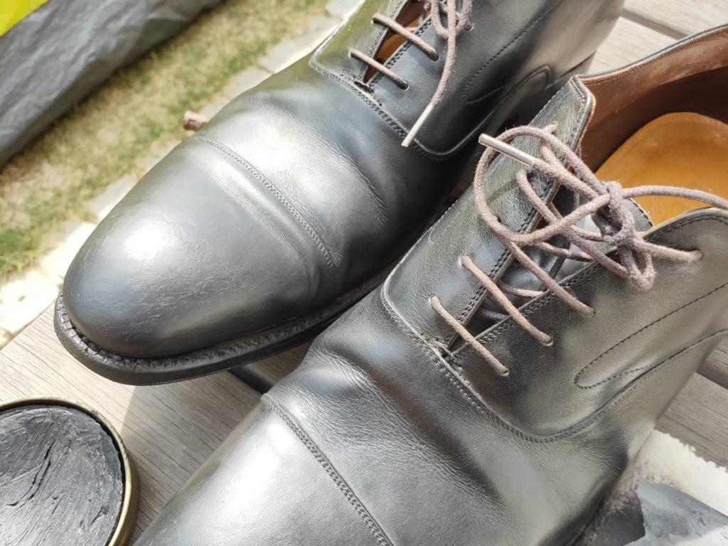 革靴とアドカラーリベンジの後