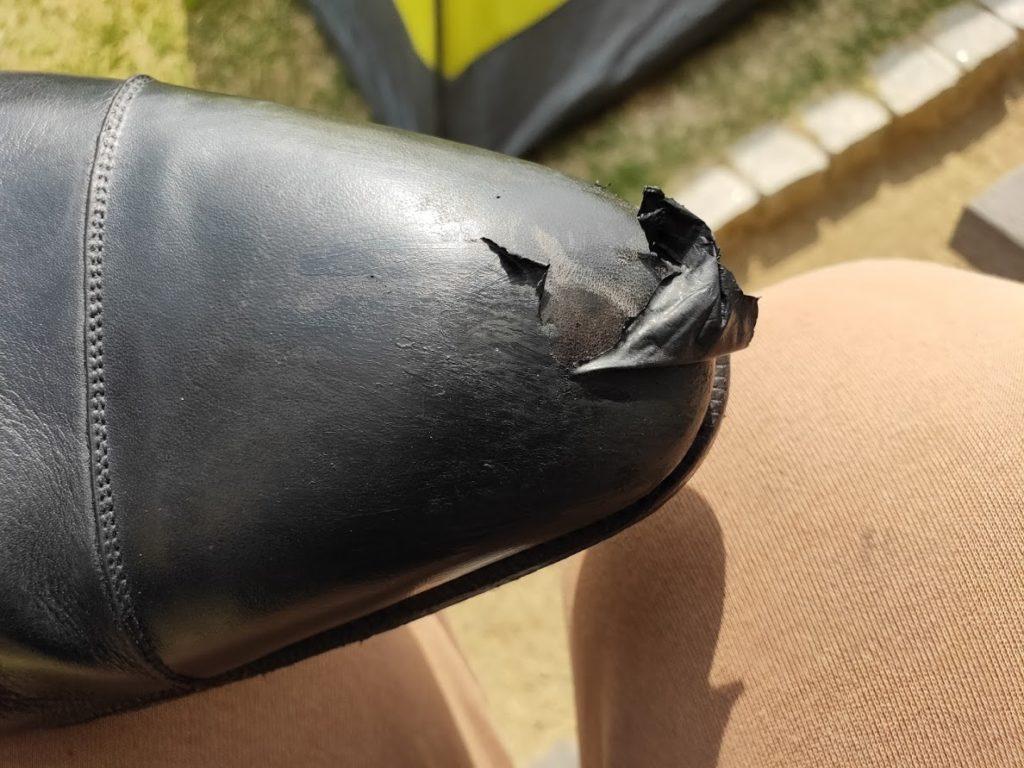 革靴とアドカラー失敗4