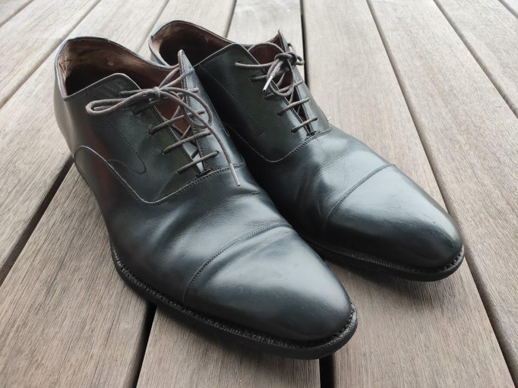 革靴の補修完了2