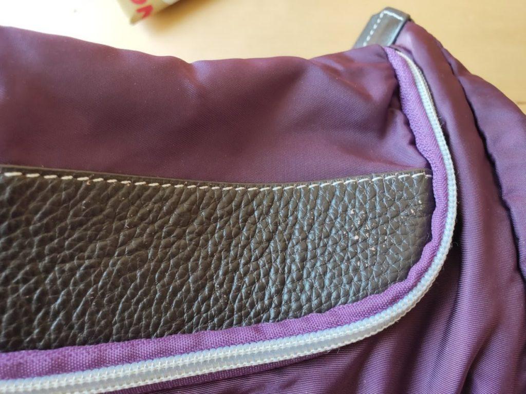アドカラーでかばんを修正するフロント部分