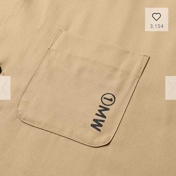 GUSOPHのオープンカラーシャツ(五分袖)の素材1