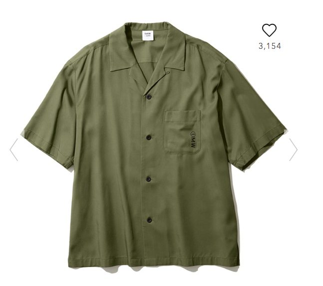 GUSOPHのオープンカラーシャツ(五分袖)の本体