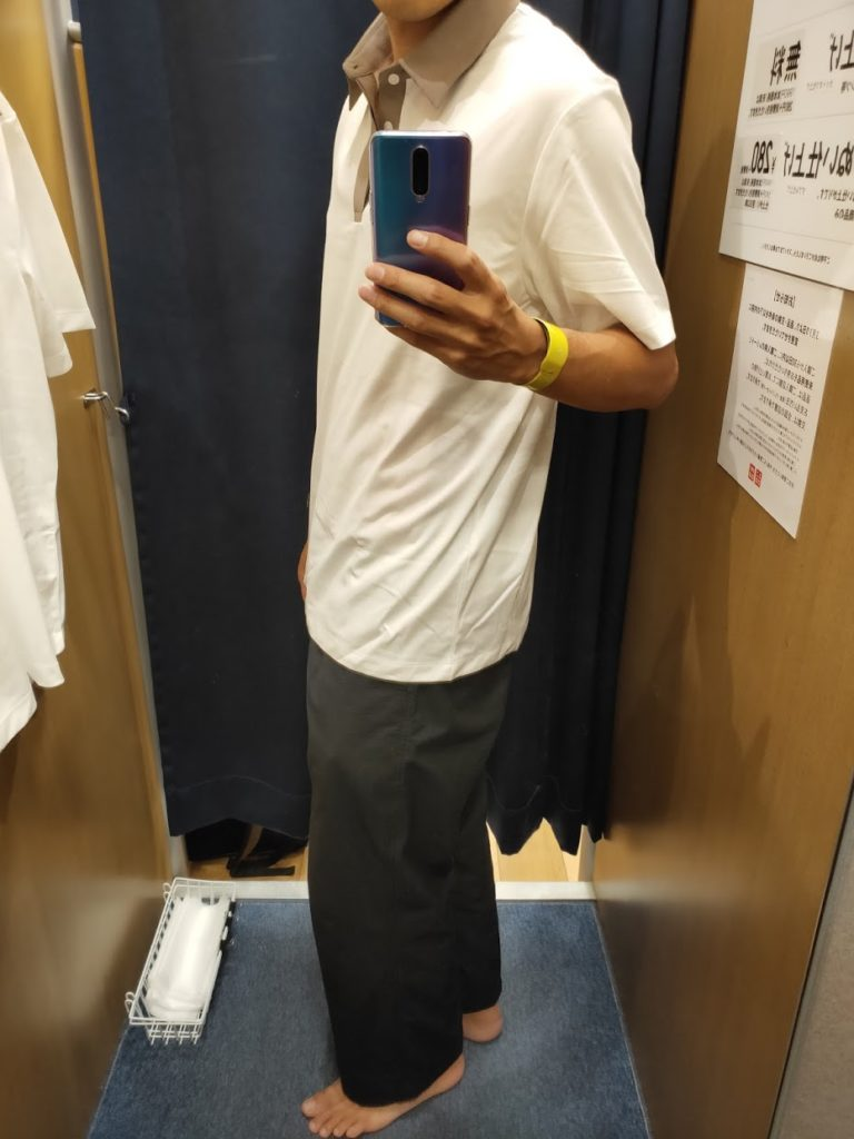 Theoryエアリズムジャージポロシャツの白XL横