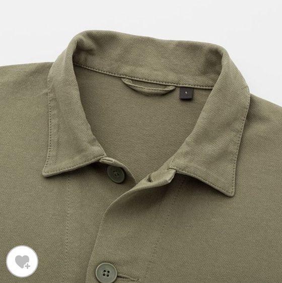 ウォッシュジャージーワークジャケットの素材1