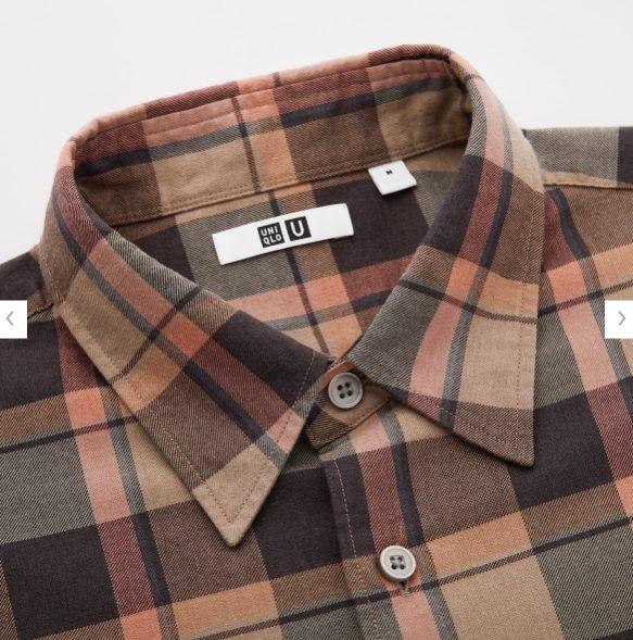 2020秋冬ライトフランネルワイドフィットチェックシャツ②の素材1